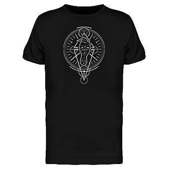 Mystical Raven Geometry Symbol Tee Men's -Image by Shutterstock