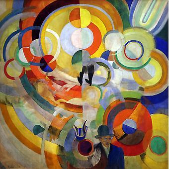 Свинья Эдди, Роберт Delaunay, 50x50cm