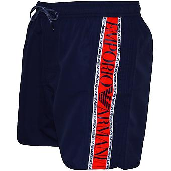 Emporio Armani Side Logo Swim Shorts, Navy