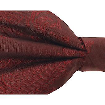Dobell Boys Burgundy Paisley bow tie pre-bundet