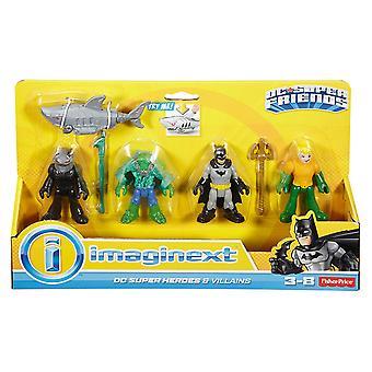 Imaginext DC Super Friends Heroes Villains Batman and Aquaman