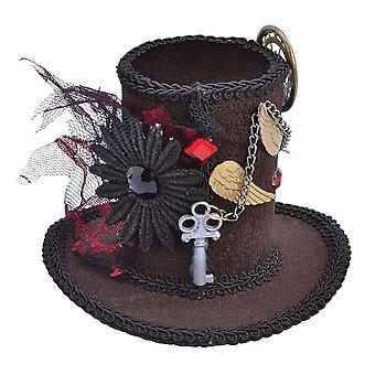 Bristol Novelty Donne/Signore Steampunk Tall Top Cappello Copricapo