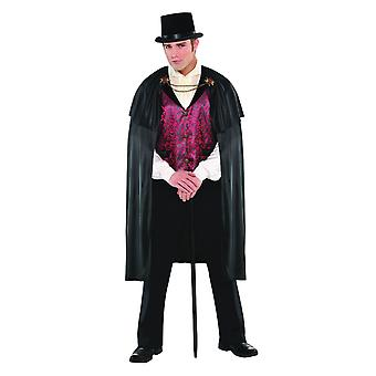 Mens Blood Count Vampire Halloween Fancy Dress Costume (Moyen/Grand)
