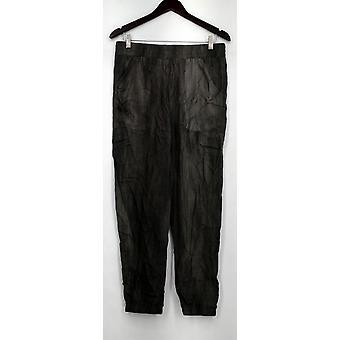 Holly Robinson Peete Pants Woven Elastic Waist Jogger Pants Gray A432829