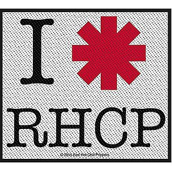 Red Hot Chili Peppers jeg elsker RHCP sy-på klud patch 100mm x 90mm (RZ)