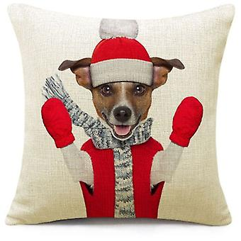 Wellindal Christmas Dog Cushion Cover (Decoratie , Kussens)