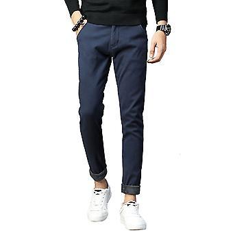 Pantalon Allthemen Men-apos;s Thickeded Warm Slim Fit Cotton Mid-Waist Pantalon