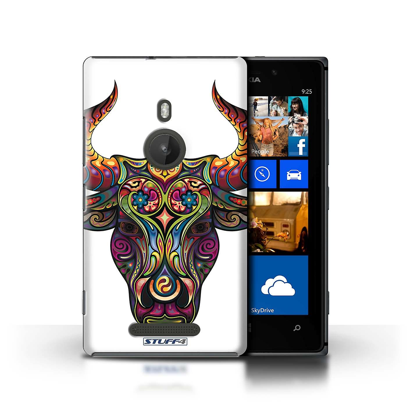STUFF4 Case/Cover for Nokia Lumia 925/Bull/Ornamental Animals