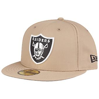 New Era 59Fifty Fitted Cap - NFL Oakland Raiders camel beige