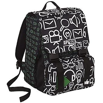 School backpack APPACK MICRO MACRO - Black 31Lt