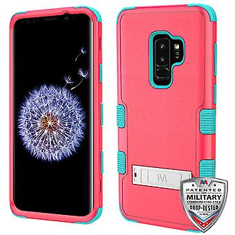 MYBAT Natural Baby Red/Tropical Teal TUFF Hybrid Phone Protector Cover  for Galaxy S9 Plus