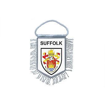 Sinalizar mini bandeira país carro decoração lembrança Blason inglês Suffolk R2