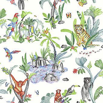 Jungle Mania Wallpaper Multi Arthouse 696008