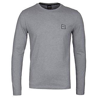 BOSS nubb grå långärmad T-Shirt