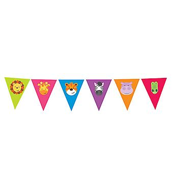 Amscan Jungle Friends Animal Party Bunting 4m