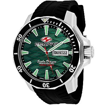 Seapro Men-apos;s Scuba Dragon Diver Limited Edition 1000 Meters Green Dial Watch - SP8318