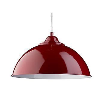 Fuse Red Dome Pendant