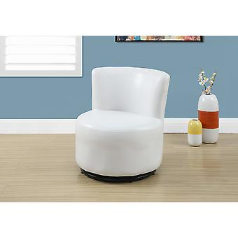 "17'.7"" x 16"" x 18'.5"" White,Leather-Look, Swivel - Juvenile Chair"