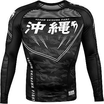 Venum Okinawa 2.0 Long Sleeve Compression Rashguard - Black/White