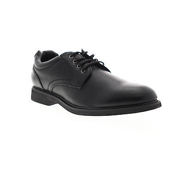 GBX Zayne  Mens Black Low Top Lace Up Plain Toe Oxfords Shoes