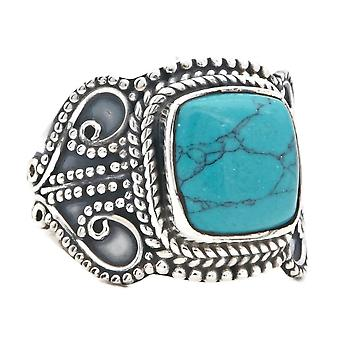 Ring Silver 925 Sterling Silver Turquoise Blue Green Stone (Nr: MRI 146)
