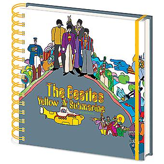 The Beatles Notebook Yellow Submarine Band Logo new Official square 15 x16 cm