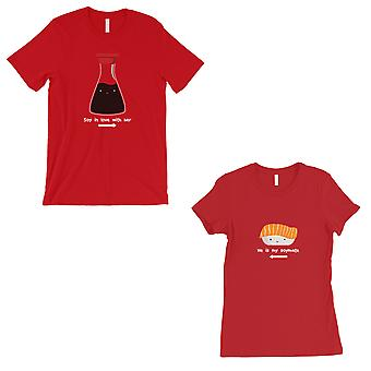 Sushi & Soy Sauce Matching Couple Gift Shirts Red For Honeymoon