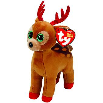 TY Beanie Baby - Tinsel the Reindeer - Small