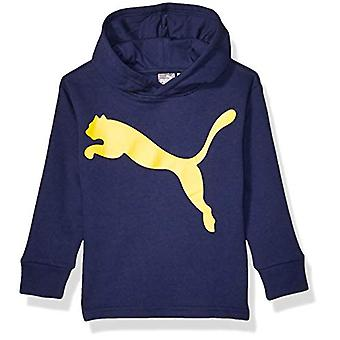 PUMA Boys' Big Cat Fleece Hoodie, Peacoat, L (14-16), Peacoat, Size L (14-16)