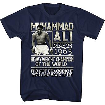 Amerikanische Klassiker Muhammad Ali back It Up T-Shirt - Marine