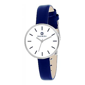 Watch James And his JAS10042 208 - leather blue woman
