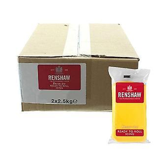 Renshaw gelb 2,5kg bereit zu rollen Fondant Vereisung Zuckerpaste