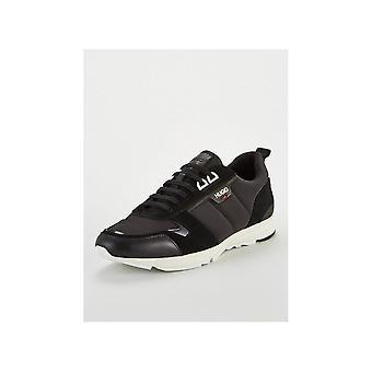 Hugo Boss Footwear Hybrid_runn Mesh/nylon Black Trainer
