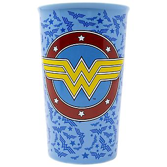 Wonder Woman Logo Tossed 16oz Ceramic Travel Mug