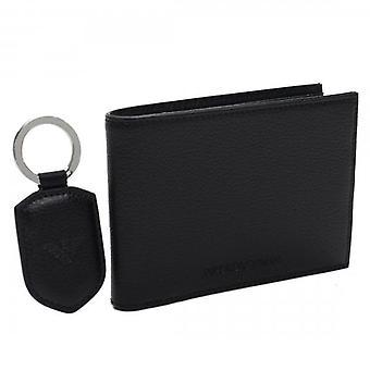 Emporio Armani Black PU Wallet With Keyring Gift Set Y4R174 YEW1E