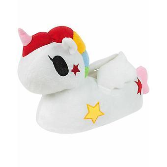 3D Cartoon Unicorn Animal Novelty Soft Plush Women's Slip-On Slippers