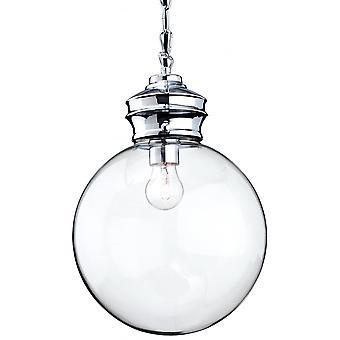 Firstlight Delicate Antique Chrome Ceiling Glass Ball Pendant Light