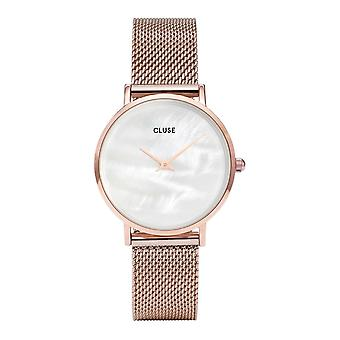 Cluse Watches Cl30047 Minuit La Perle Rose Gold & White Pearl Ladies Watch