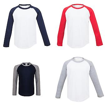 Skinni Minni Childrens/Kids Long Sleeve Baseball T-Shirt