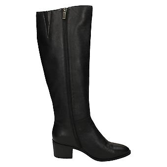 Robe en cuir Femmes/Dames Chunky Heel Knee High Leather Boots
