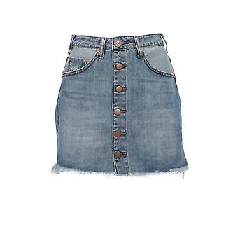 Oneteaspoon 22329vinice Women's Blue Cotton Skirt