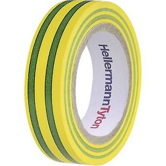 HellermannTyton HelaTape Flex 15 710-00106 Electrical tape HelaTape Flex 15 Green, Yellow (L x W) 10 m x 15 mm 1 pc(s)