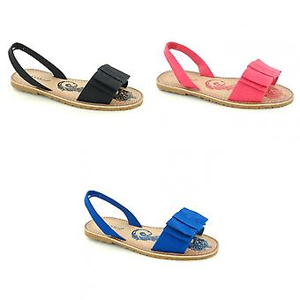 Spot On Womens/Ladies Seahorse Flat Bow Sling Sandals