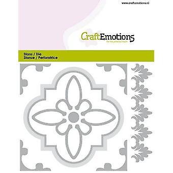 CraftEmotions Die - tile 1 Card 11x9cm - 82 mm (04-20)