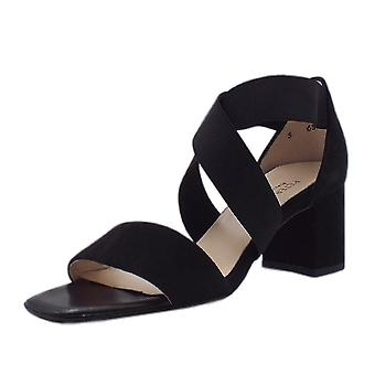 Peter Kaiser Paige Dressy Cross Over Straps In Black Suede