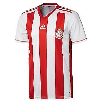アディダスFCオリンピアコスS89364サッカー夏の男子Tシャツ