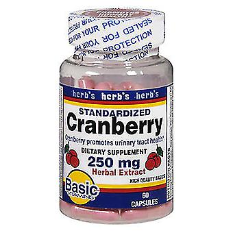 Basic vitamins cranberry, 250 mg, herbal extract, capsules, 60 ea