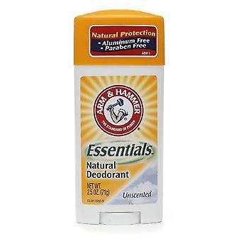 Руку & молот основы естественный дезодорант, без запаха, 2,5 унции
