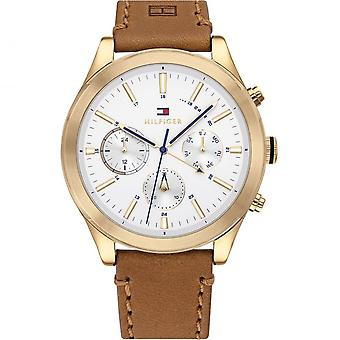 Tommy Hilfiger Watches 1791742 Ashton Gold & Tan Leather Men's Watch