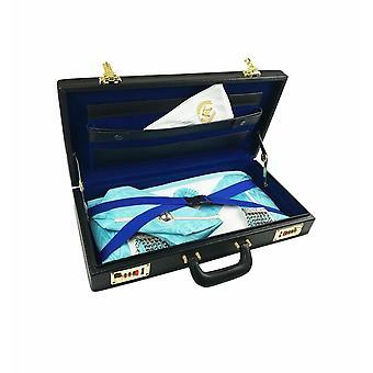 Masonic regalia half apron hard case/briefcase